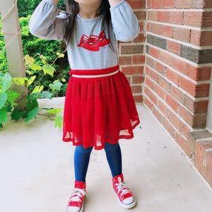 Gucci girl SZ 36 M T-shirt with red tutu  set